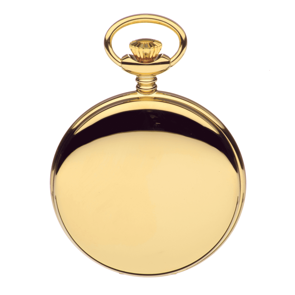 Closed gold pocket watch