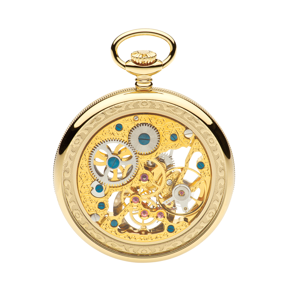 open face g252 pm skeleton pocket watch jean pierre of switzerland